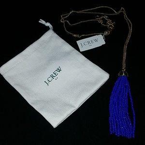NWT J. Crew Beaded Tassel Pendant Necklace